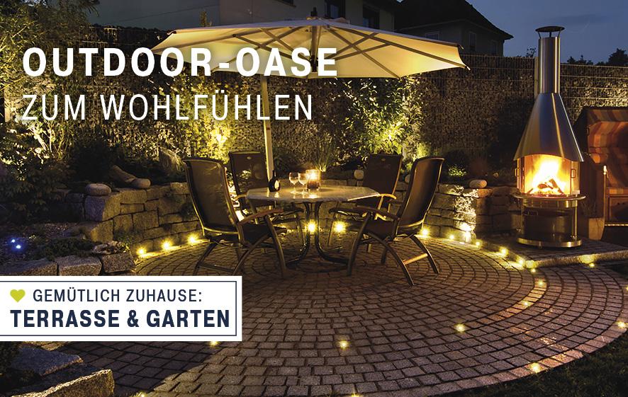 Beleuchtung für Terrasse und Garten